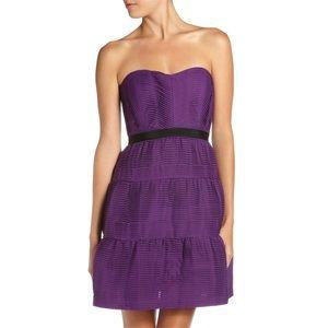 {BCBGMaxAzria} Woven Tiered Dress